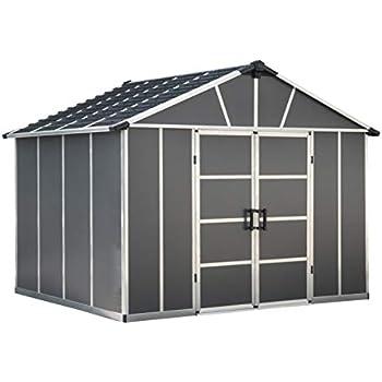 Amazon Com Palram Hg9909sgy Yukon Storage Shed 11 X 9
