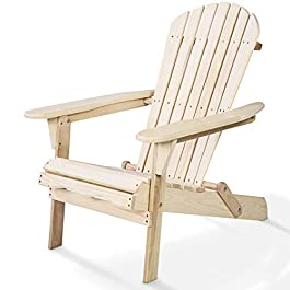 Giantex HW50296-FN Adirondack Chair Foldable Outdo...