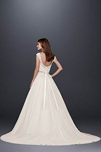 WG3741 with Illusion Ivory Style Bridal David Wedding Tulle Neckline Dress Lace s wwvB1qX