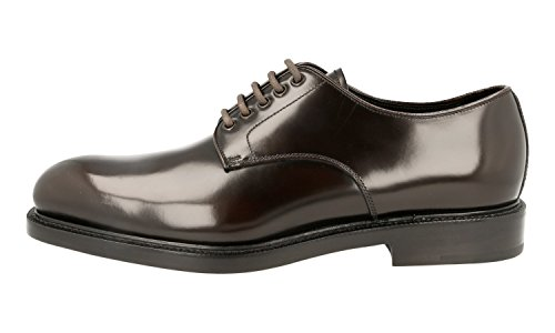 Prada Men's 2EA072 055 F0192 Brown Leather Business Shoes EU 10 (44)/US 11 by Prada (Image #2)