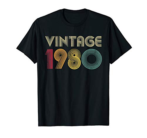 1980 40th Birthday T Shirt Gift Vintage Classic Men Women