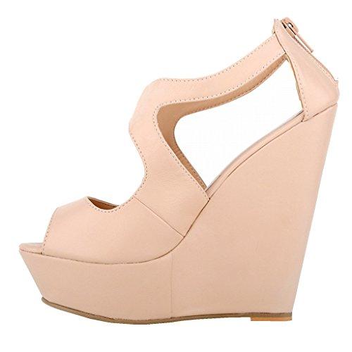 EKS - Zapatos de Tacón Mujer Nackt-matte