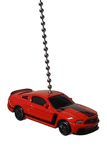 Maisto Car Truck vehicle Ceiling FAN PULL light chain ('13 Orange Ford Mustang Boss 302)