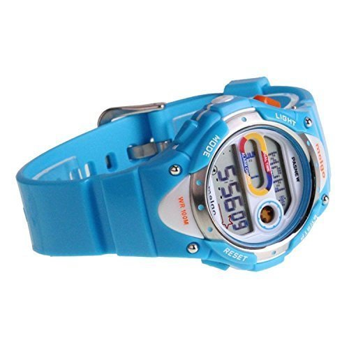 PASNEW LED Waterproof 100m Sports Digital Watch for Children Girls Boys (Blue) by PASNEW