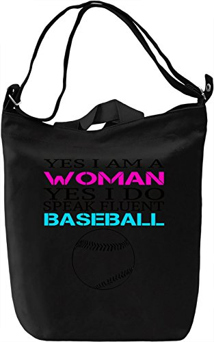 Canvas Funny Slogan Yes Fluent Day Premium Speak Am Printing Canvas Woman DTG 100 I Bag Borsa Canvas I Baseball Cotton A Giornaliera zfz78