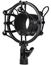 Lixada Metal Univerdal Condenser Microphone Mic Shock Mount Holder Bracket Anti-vibration for On-line Broadcasting Studio Music Recording