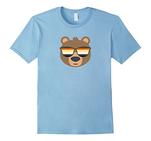 Mens Gay Bear Wearing Bear Pride LGBTQ Flag Sunglasses T-Shirt Small Baby - Gay Sunglasses