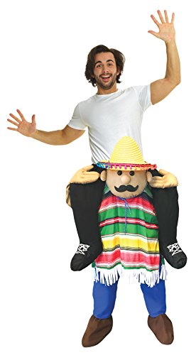 Piggyback Costumes (UHC Cinco De Mayo Piggyback Outfit Funny Theme Party Halloween Fancy Costume, OS)