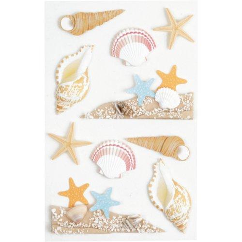 Little B 100311 Dimensional Stickers, Medium, Sea Shells