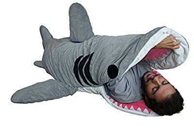 "Adults ""Chumbuddy 3"" Great White Edition Shark Plush Sleeping Bag"