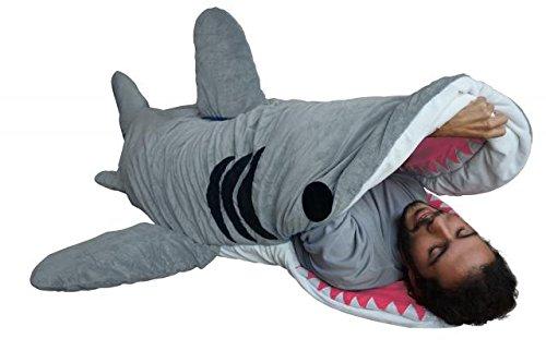 Chumbuddy 3 Adult Great White Edition Shark Designer Plush Sleeping Bag
