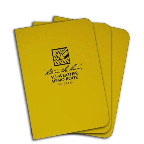 Book Field Flex Bound - Rite in the Rain 374-M Field-Flex Pocket Memo 3 1/2-Inch x 5-Inch 3-Pack