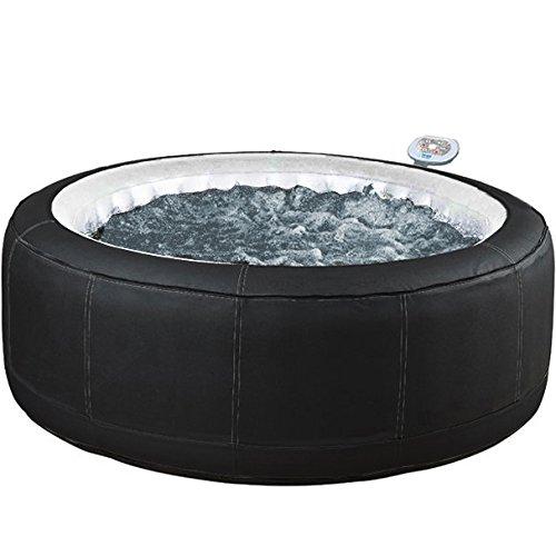 Whirlpool outdoor rund  Aqua Spa 81007 Whirlpool rund 4 Personen, schwarz / grau: Amazon.de ...