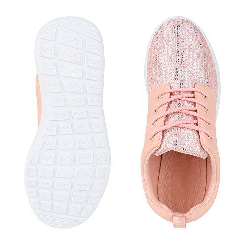 piatta e lacci tempo libero Glitzer Sneakers Uomo Unisex suola Scarpe Donna scarpe corsa Sport da Rosa qP8F5wR
