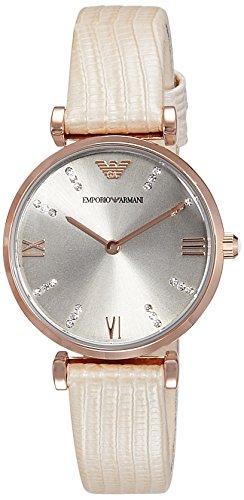 Emporio Armani Women's AR1681 Retro Nude Leather Watch