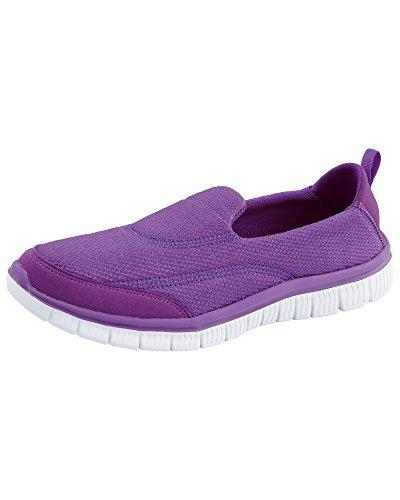 Cotton Traders Unisex Womens Ladies Mens Lightweight Active Slip-on Shoes E Fit Violet IIJ9Qu5lZ