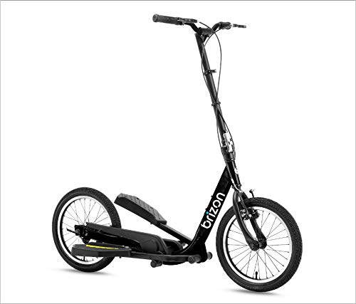 BRIZON New Model - Wingflyer16- Excercise Stepper Scooter (16inch Air Tire) (Black)