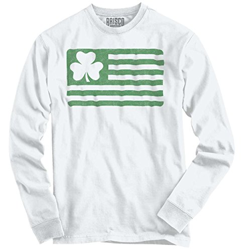 St Patricks Day Clothing Ideas (Shamrock Flag Funny Graphic Fun Gift Ideas St Patricks Day Long Sleeve Tee)