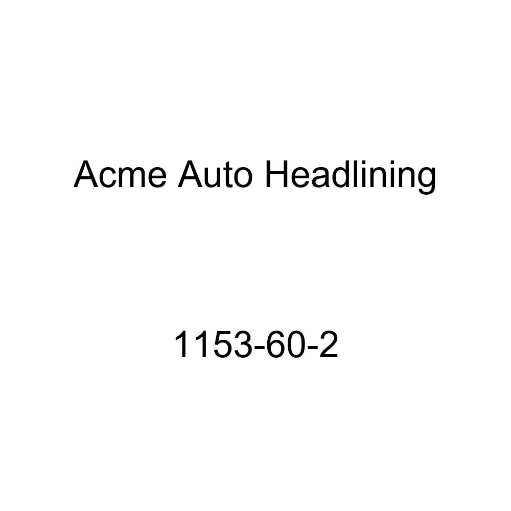 Acme Auto Headlining 1153-60-2 Black Replacement Headliner 1955 Buick Super /& Cadillac Series 60, 62 4 Door Sedan 8 Bows