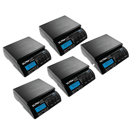 My Weigh UltraShip 55lb. Digital Scale Pro Savings 5-Pack for Pizzeria, Restaurant, Bakery or Shipping Usage