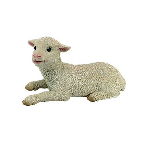 Design Toscano Aries Sitting Lamb Statue Sitting Sheep