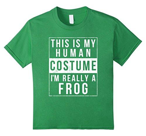Kids Frog Halloween Costume Shirt Funny Easy for Kids Men Women 10 Grass (Best Easy College Halloween Costumes)