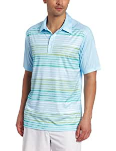 adidas Golf Men's's Climacool Wood Grain Printed Polo, Waterfall/Island, XX-Large