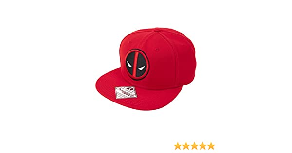 71c6553325f Amazon.com  Marvel Deadpool Logo Snapback Baseball Cap  Clothing