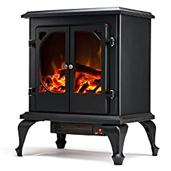 "Townsend Electric Fireplace - e-Flame USA 22"" Portable Electric Fireplace with 800-1500W Space Heater by e-Flame USA"