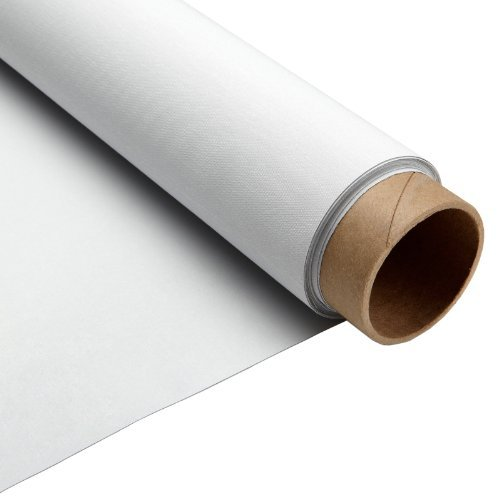 Carl's Blackout Cloth, Projector Screen Material, White, Gain 1.0 (16:9 | 66x110 | 128-in | Rolled | FBA) Projection Screen/Movie Screen Fabric (Blackout Cloth)