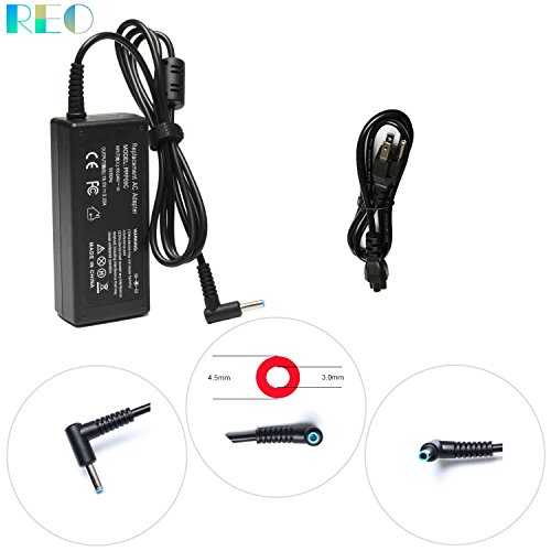 Reo New 19.5V 3.33A 65W AC Power Laptop Adapter Charger For HP ProBook 640 G2,650 G2,430 G3, 440 G3, 450 G3, 455 G3, 470 G3 Notebook Power Supply Cord(Blue Connector)--12 months warranty