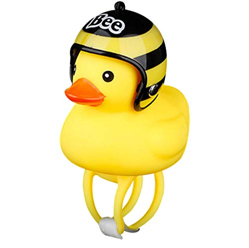 Sodoop Bicycle Bell Light, Cartoon Duck Head Light,Shining Duck Bicycle Handlebar Bells Accessories, Cute Kids Bike Horn,Bicycle Lights Bell Squeeze Horns for Toddler Children Adults Cycling (L)