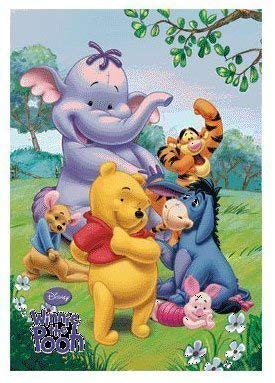 3D Lenticular Printing Moving//Changing Picture Wall Decor *Winnie the Pooh*