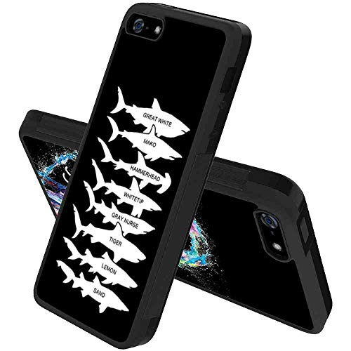 - Shark Cell Phone Case Compatible with Apple iPhone 5, iPhone 5S, iPhone SE [5.5 Inch]