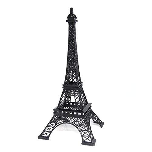 Eiffel Tower Cut Out (Ethrift Metal Eiffel Tower Statue Figurine Replica Centerpiece (Black, 15)