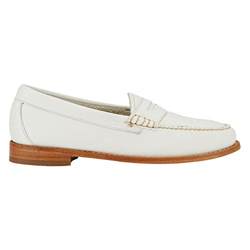Gh Bas & Co. Womens Whitney Öre Loafer Vit Mjuk Tumlade Läder