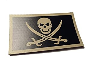 Calico Jack Skull Us Ir Infrared Reflective Flag Morale Patch Us Military Uniform Army