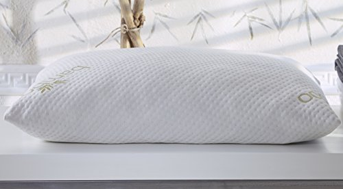 Kuprum Adjustable Visco Foam Pillow with Breathable Bamboo Pillow Cover, Queen Size - Dust Mite ()