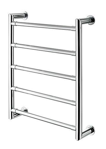 - TURA WALL MOUNT TOWEL WARMER W/5 RAILS AND MITERED CORNERS (WITH CONCEALED MOUNTING) ELECTRIC 24 1/2 X 19 2/3, Polished Chrome