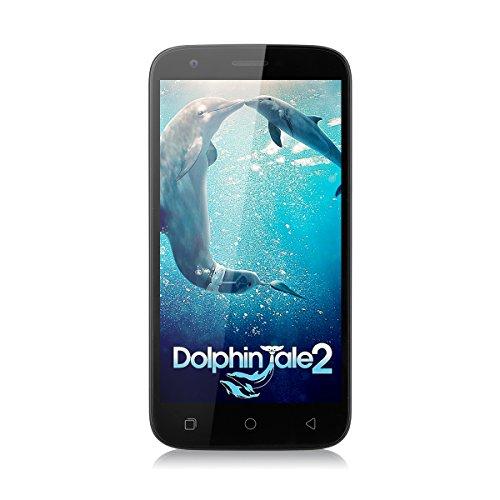 Ulefone U007 pro 5.0 Zoll 4G Smartphone Android 6.0 1.0GHz Quad Core Dual SIM Handy ohne Vertrag 1G RAM + 8G ROM 2.0 MP + 8.0 MP Dual Kamera Corning Gorilla 3 HD Screen Air Gesture GPS WiFi Schwarz