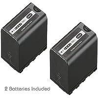 Kastar Battery 2 Pack for Panasonic AG-VBR89G AG-VBR59 AG-VBR118G AG-BRD50 AG-B23 & AG-DVX200 AG-AC8 AG-AC90A AG-DVC30 AG-HPX250 AG-HPX255 AG-HVX201 AJ-PX230 AJ-PX270 AJ-PX298 AJ-PG50 HC-MDH2 HC-X1000