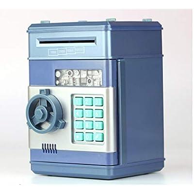 Fineday Money Saving, Electronic Pig Bank ATM Password Money Box Cash Coins Saving Box ATM Bank Safe, Housekeeping & Organizers HotSales (Black): Home & Kitchen