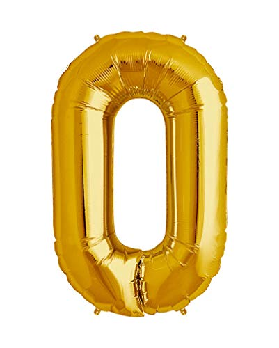 40 inch Big Number Balloons Gold Mylar Foil Large Number 2 Giant Helium Balloon Birthday Party Decoration]()
