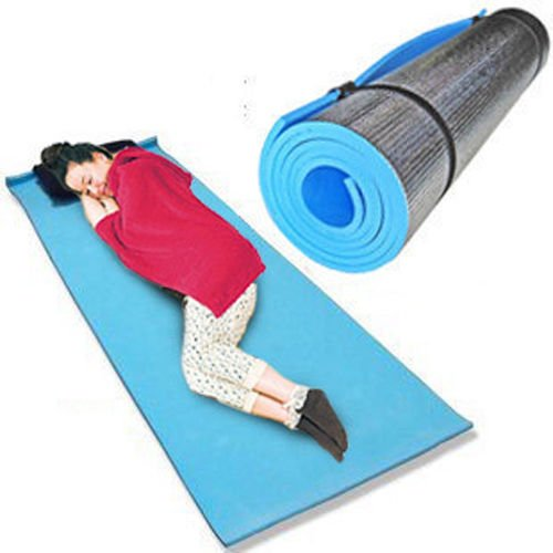 0.24 inches EVA Aluminum Yoga Mat Pad Non-Slip for Exercise Fitness - BLUE - 1