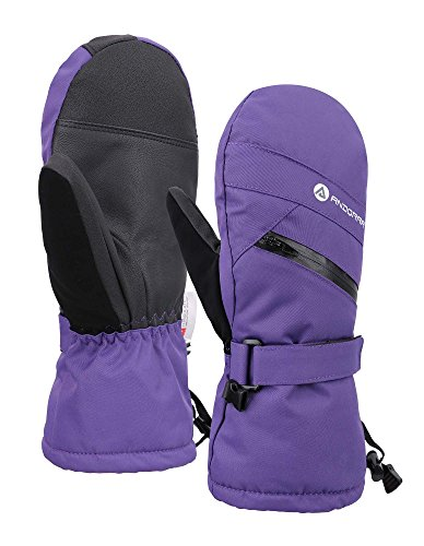 Andorra Women's Touchscreen Ski and Snowboarding Mittens with Zippered