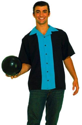 Forum Novelties Mens King Pin Bowling Shirt Adult 50s Costume As Shown - Plus