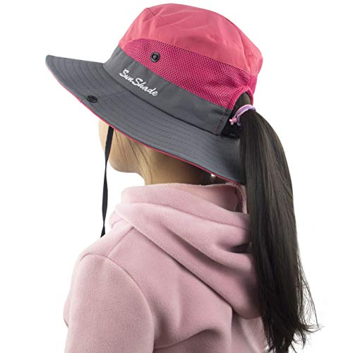 Muryobao Toddler Child Kids Girls Summer Sun Hat Wide Brim UV Protection Hats Floppy Bucket Cap for Beach Fishing Gardening Watermelon Red]()
