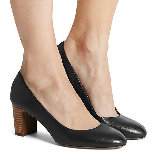 Marks & Spencer Damen Durchgängies Plateau Sandalen mit Keilabsatz Schwarz