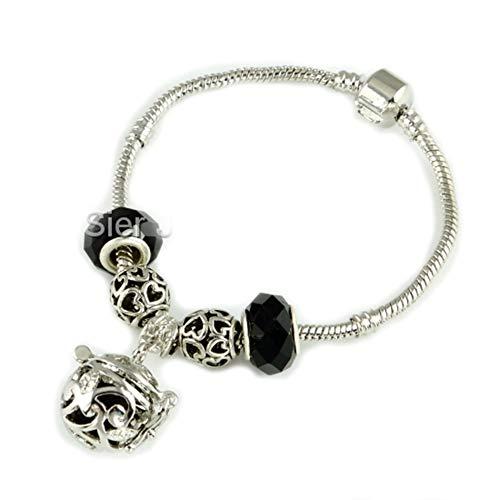 Sier Vine Aromatherapy Perfume Essential Oil Diffuser Bracelet Locket Lava Stone (Black) (Sier Oil)