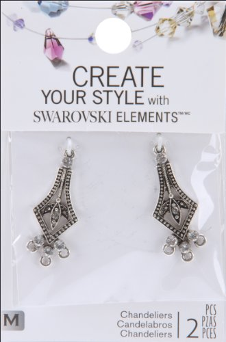 Element Arrow (Create Your Style with Swarovski Elements Crystal Pointed Arrow Chandelier Earrings)